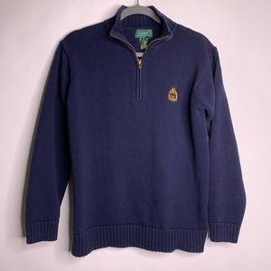 Lauren Ralph Lauren Navy Blue Quarter Zip Sweater